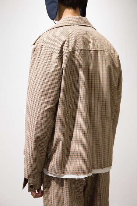 Camiel Fortgens Wool 70's Jacket - Brown Check