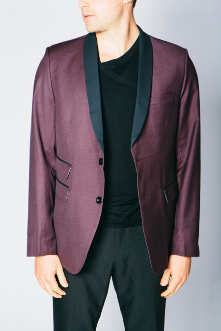 Any Old Iron Classic Cashmere Blend Blazer - Ox Blood