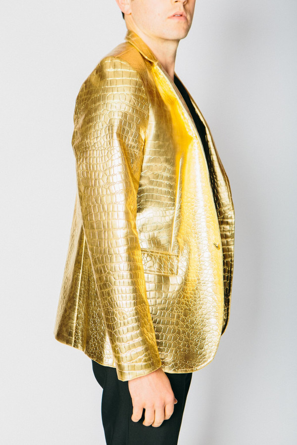 Men's Any Old Iron Golden Croc Of Shite Blazer