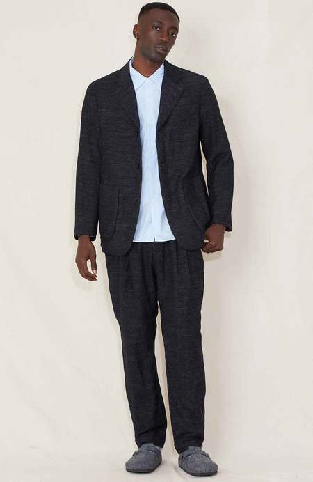 Sage de Cret 2 Tack Tapered Wool Linen Pants - Charcoal