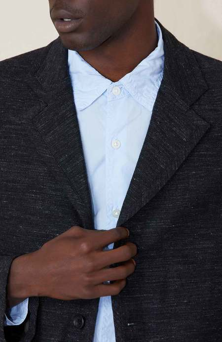 Sage de Cret 3B Tailored Wool Linen Jacket - Charcoal