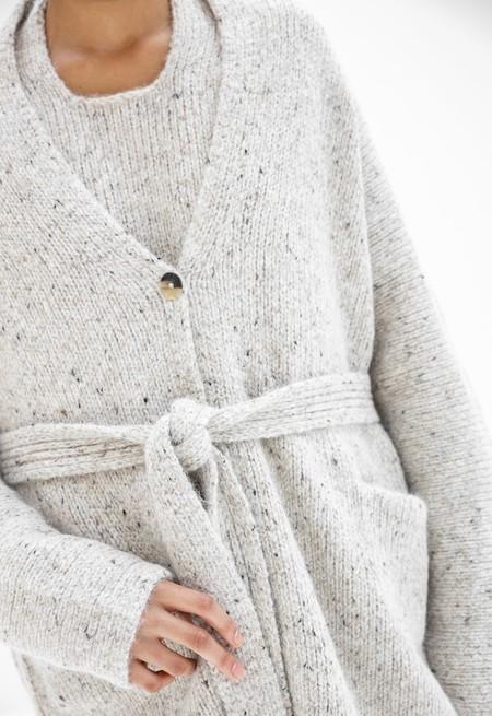 Lauren Manoogian Grandpa Cardigan - White Tweed