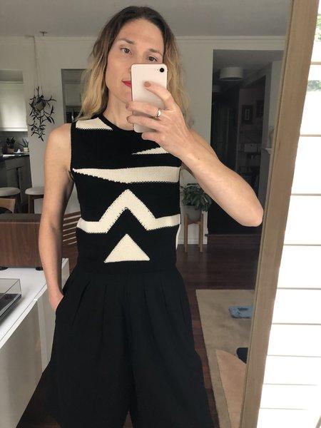 MILA ZOVKO Nives Knitted Vest - Black/Cream