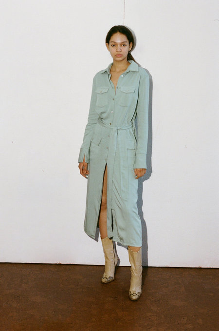 THE LINE BY K Bree Trench Dress - Spirulina