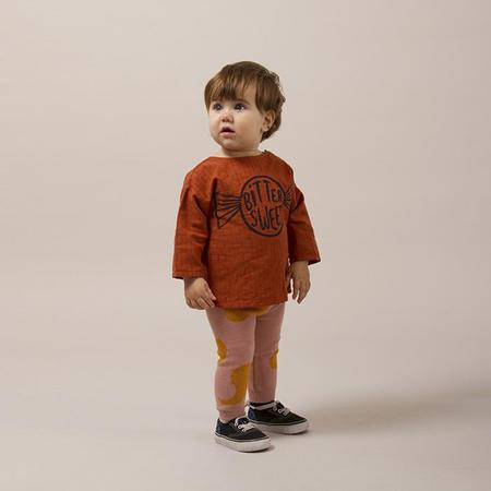 KIDS Bobo Choses Baby Bitter Sweet Long Sleeved Bitter Shirt - Brown
