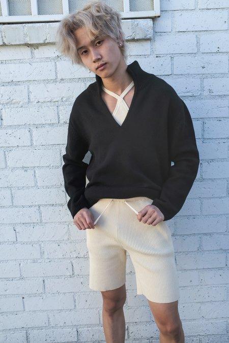 Judy Turner Wool Knit David Pullover - Black