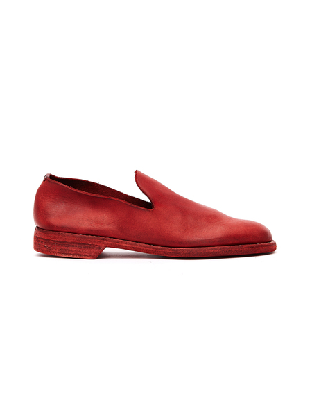 Guidi Leather Loafers - Red