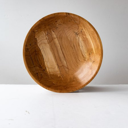 Pierre Chayer Hand Turned Spalted Maple Salad Bowl