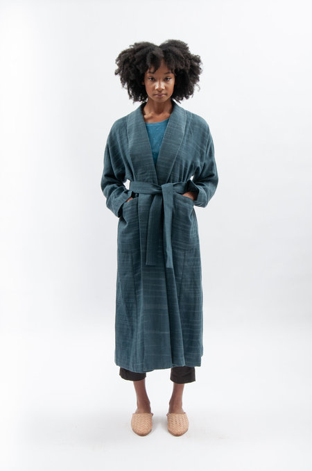 Wool 11.11. eleven eleven Naomi Overcoat - Indigo