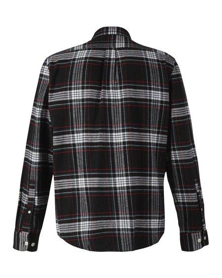 Portuguese Flannel Big Square Nazare Shirt - Black