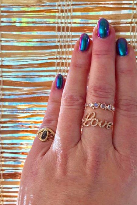 Pade Vavra 14K Yellow Gold Diamond Love Ring