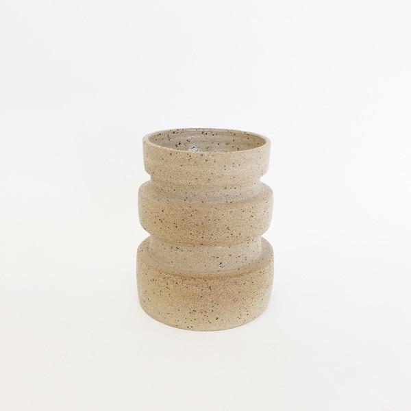 Ashley Hardy Sand Macro Rib Vase