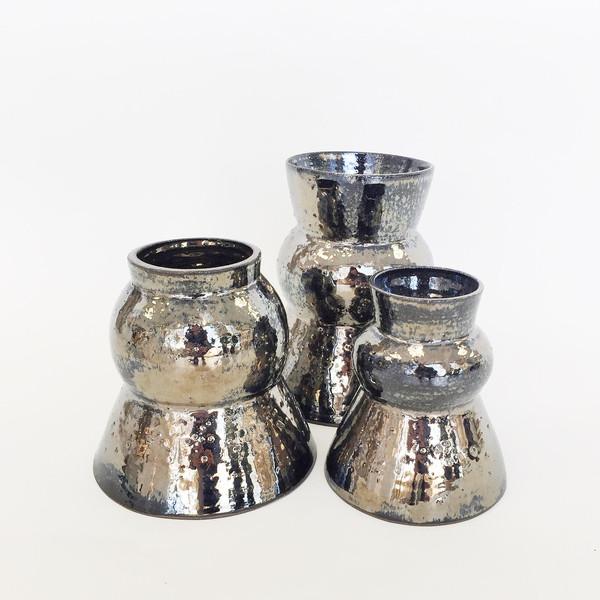 Ashley Hardy Small Chrome Vase
