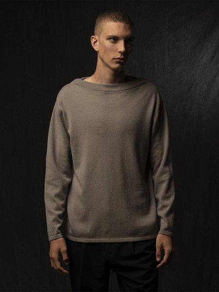 Pure Cashmere NYC Men Boat Neck Sweater - Pebble