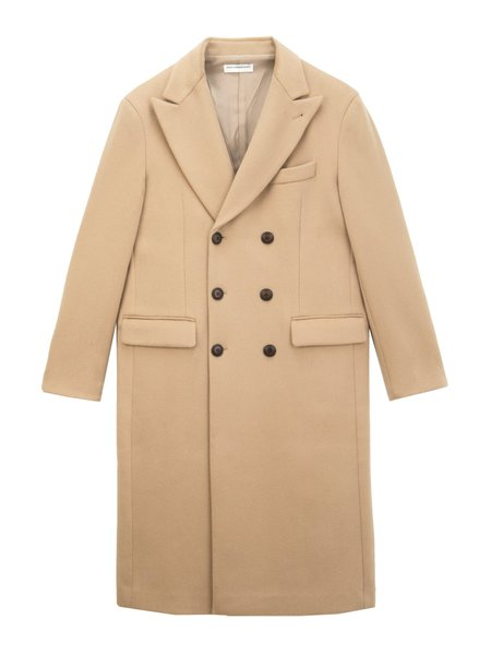Pure Cashmere NYC Men Tailored Double Breasted Coat - Camel