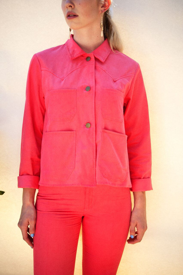 Lykke Wullf Ranch Jacket in Pink Flamingo