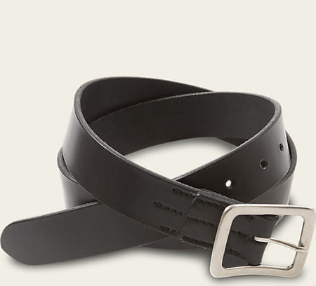 Red Wing Shoes Black Narrow Vegetable Tanned Leather Belt
