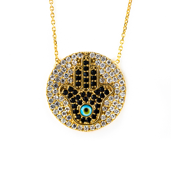 Blee Inara Gold Hamsa Necklace