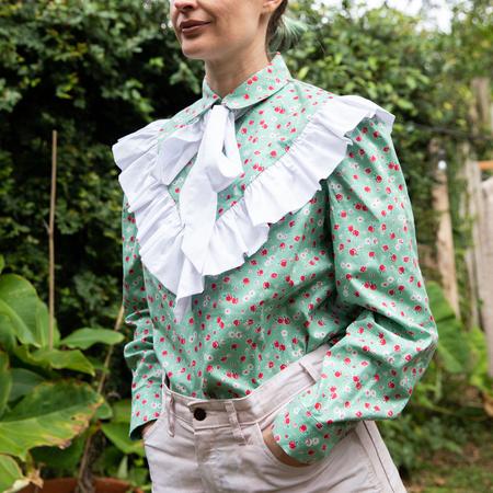 Batsheva Carol Blouse - Green Apples