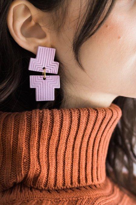 Her New Tribe .05 Earrings - Petal