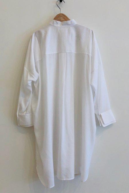 a mente Long Shirts Dress - White