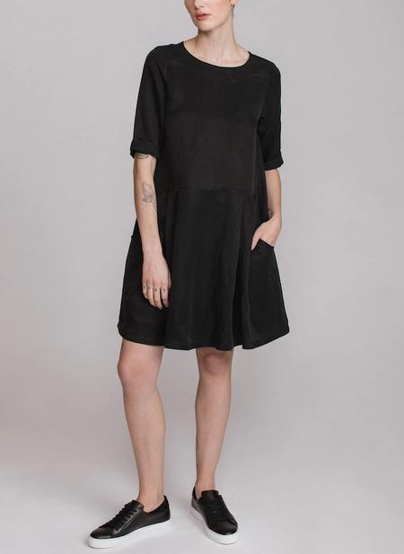 Pillar by Allison Wonderland Sabrina Dress - Black