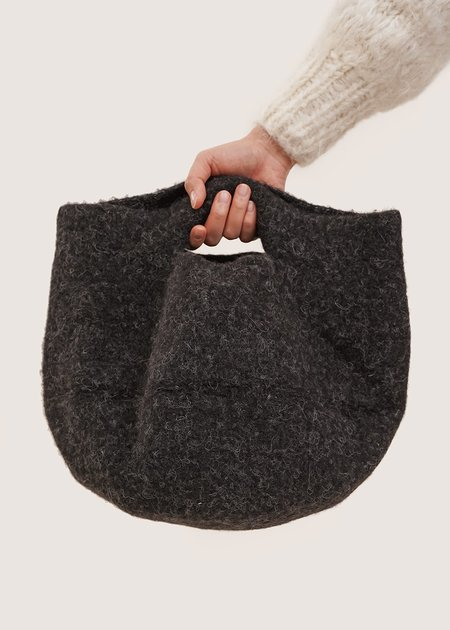 Lauren Manoogian Felt Bowl Bag - Black Melange