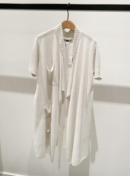 Sarah Pacini linen long cardigan with pockets