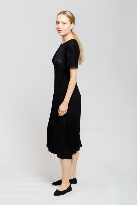 MARIO Short Sleeve Dress - Black
