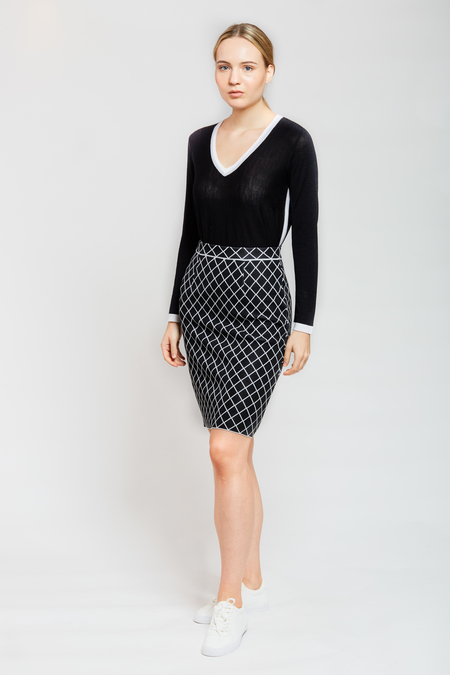 Mario Skirt - Black/White