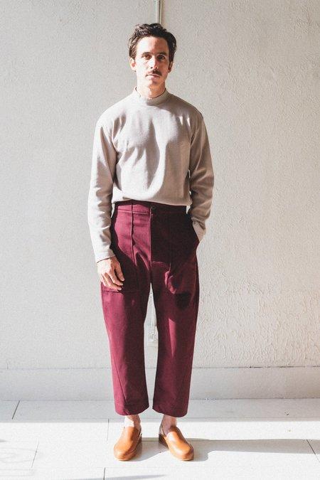 Studio Nicholson Bosco Cotton Twill Pants - Beetroot