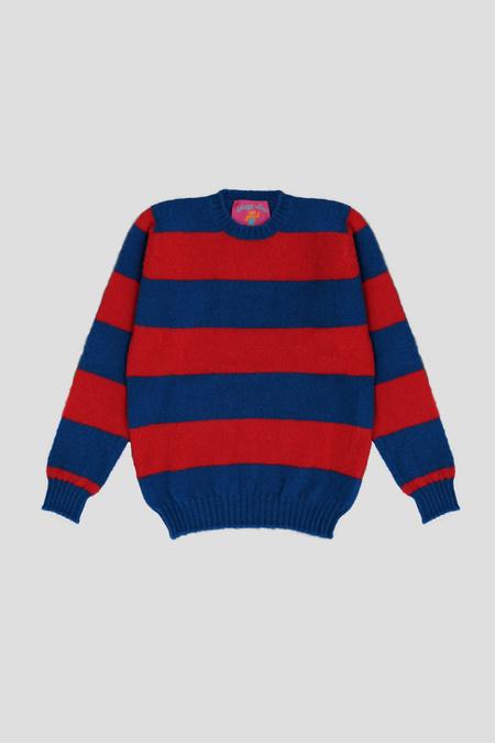 Howlin' Shaggy Bear Sweater - Aquatic