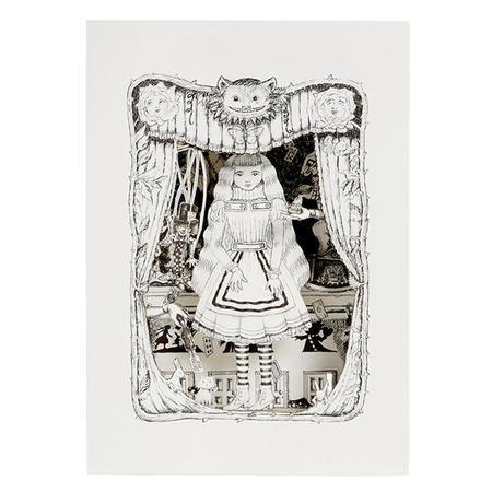 Benjamin Pollock Alice's Diorama Shadowbox - white