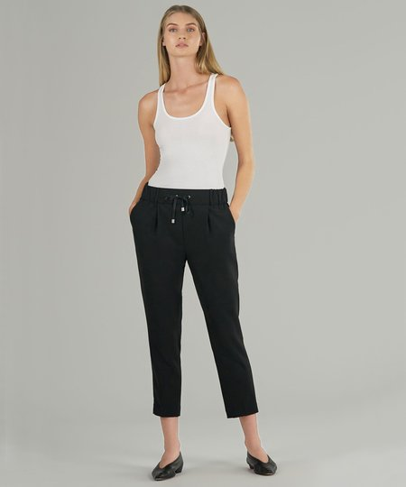 ATM Micro Twill Pull On Pant - Black