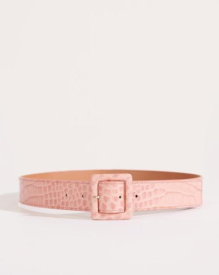 Veronica Beard Rossi Croco Belt - Pink