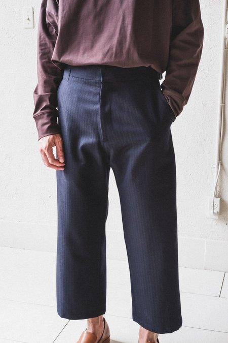 Studio Nicholson Boss Herringbone Wool Trousers
