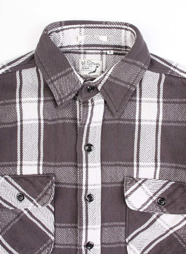 Men's Orslow Vintage Fit Flannel Shirt Black Check