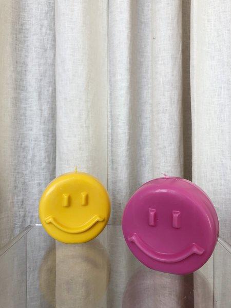 Ri-Ri-Ku HAPPY FACE CANDLE - Yellow