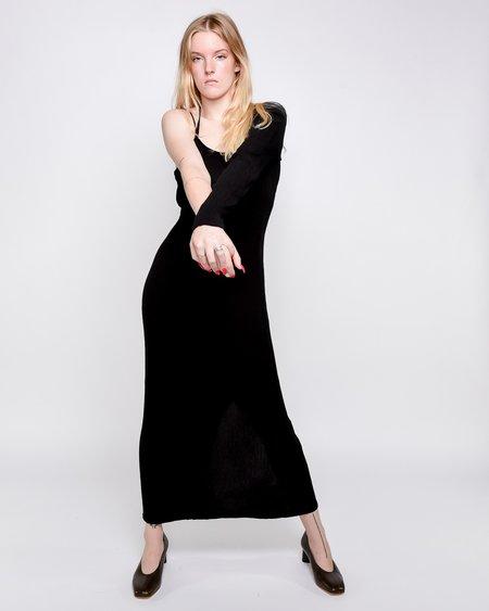 Paloma Wool Linde Asymmetrical Crinkle Dress - Black