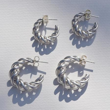 Leigh Miller Large Twisted Hoops - Sterling Silver
