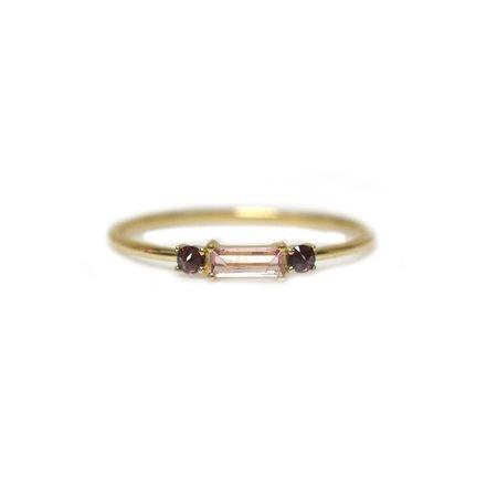 La Kaiser Baguette Crush Ring - 14kt Gold/Pink Tourmaline