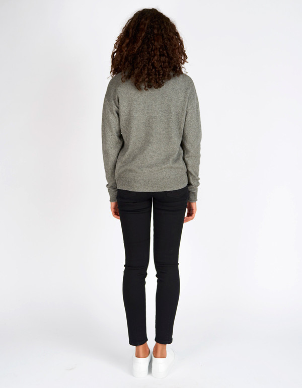 Filippa K Cotton Yak Pullover Grey Melange