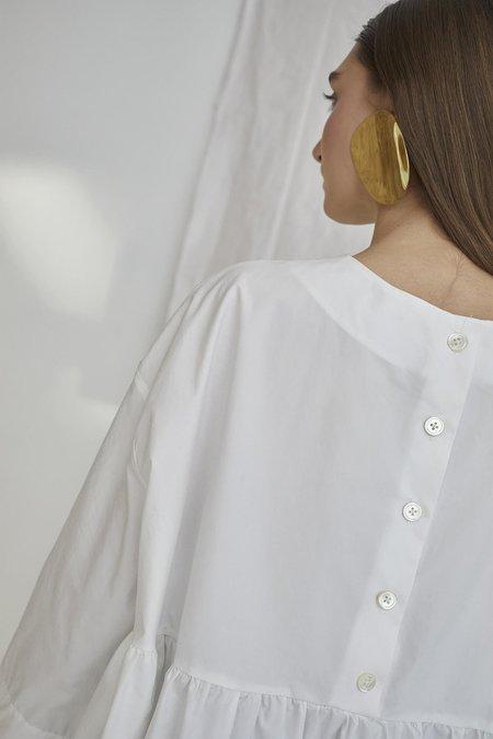 WHiT Dalia Top - Solid Poplin White