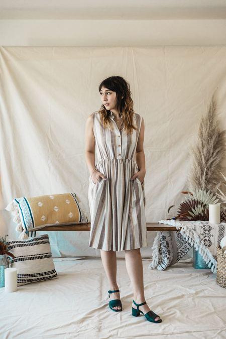 Myrtle Julie Dress - Toffee Stripe
