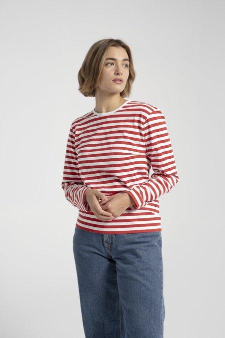 Marimekko Pitkähiha Shirt - Red/White
