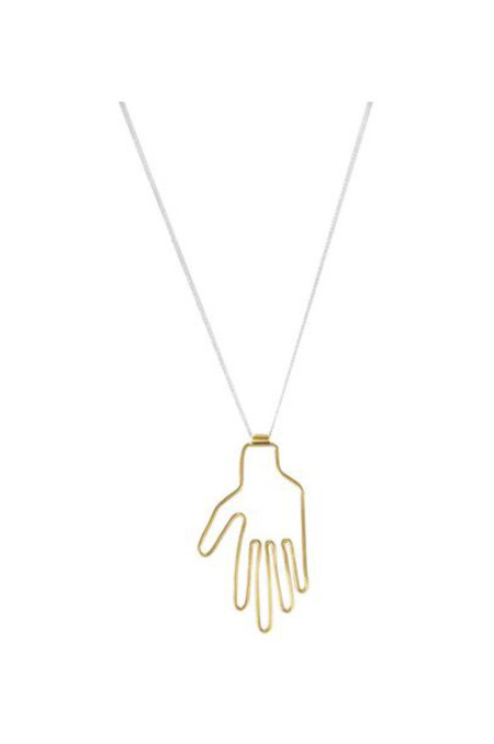 Young Frankk Hand Necklace, Gold Plated