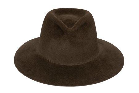 Clyde Pinch Hat - Dark Mink Angora