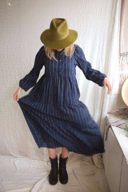 Pietsie San Pacho Dress - Stripe Blue