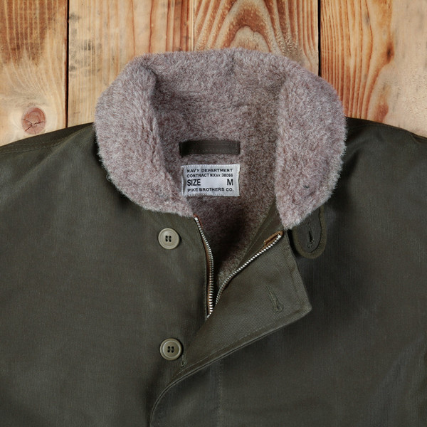 Men's Pike Brothers - 1944 N1 Deck Jacket Waxed Olive