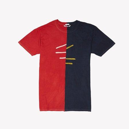 Post-Imperial IKEJA TEE - Red/Indigo